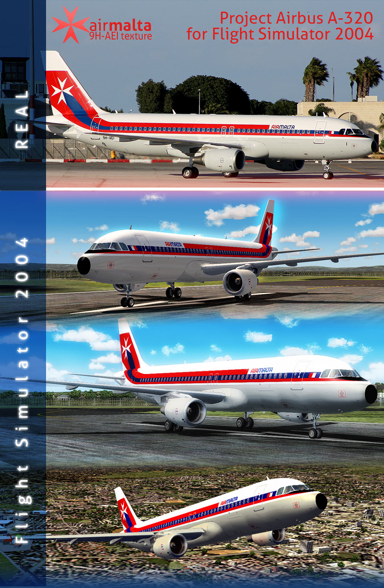 Air Malta 9H-AEI Retro Livery for FS2004